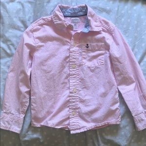 Carter's boys long sleeve shirt pink sz 4